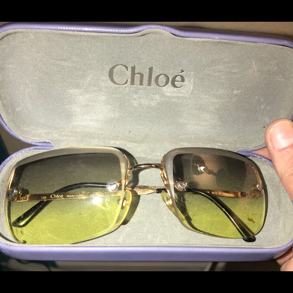 33c97921d26 Chloe Accessories - Vintage Chloe Sunglasses Heart Bling